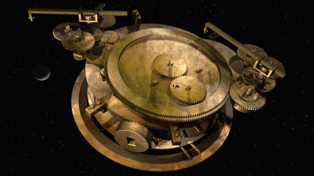 Modelo computacional de como o mecanismo teria funcionado (Imagem: Reprodução/UCL)