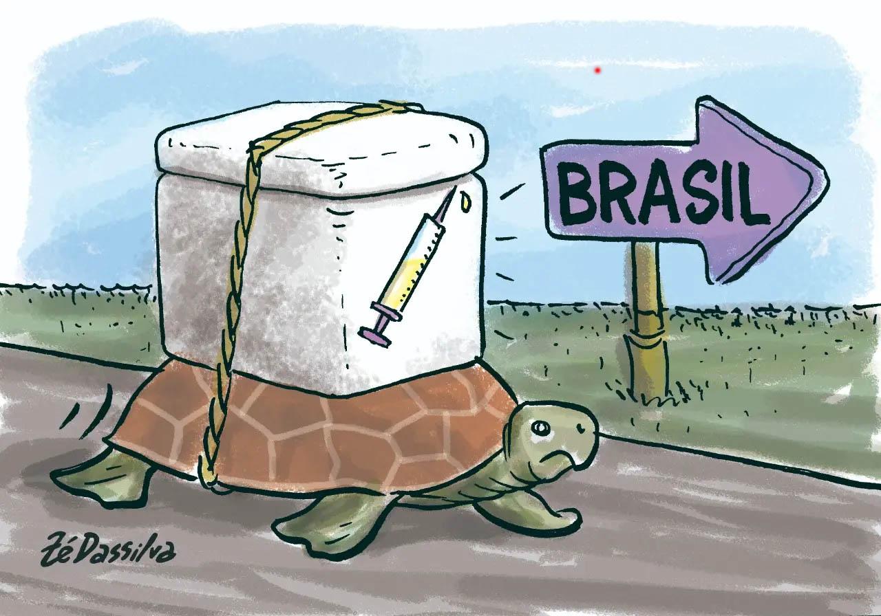Falta vacina em vários países da Europa, mas no Brasil, sem motivos idênticos aos europeus, está havendo lentidão na entrega aos municípios