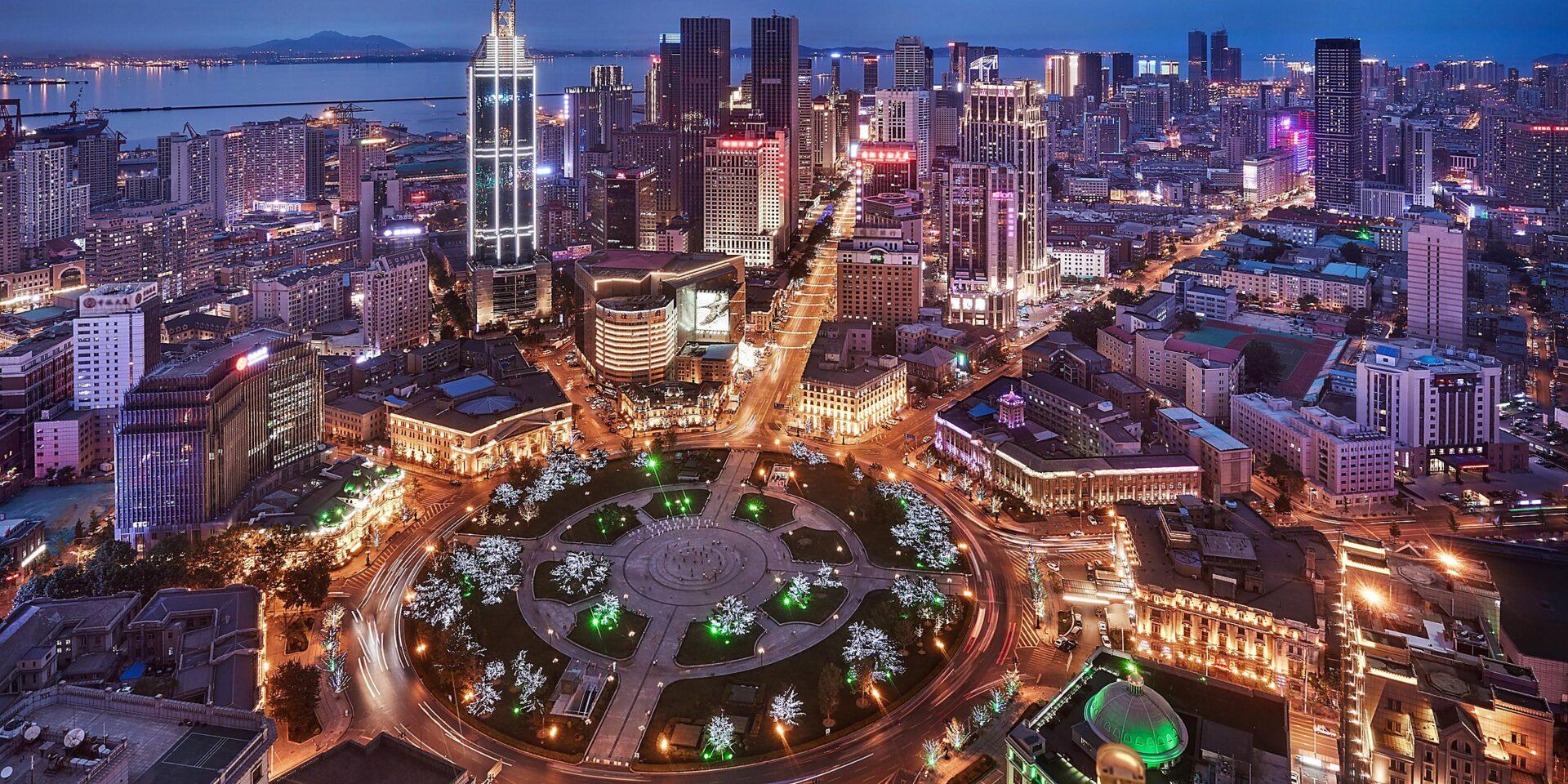 Dalian, a cidade portuária da Península de Liaodong, no extremo sul da província de Liaoning, na China.