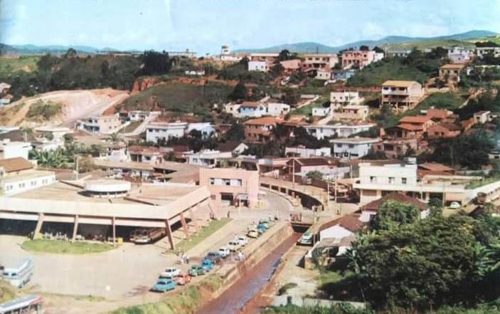 Vista parcial de Itabira nos anos 1960