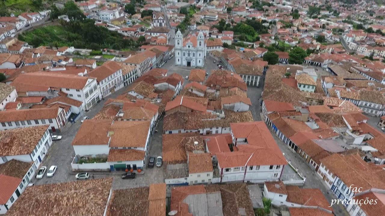 Vista mais ampla do Arraial do Tijuco, hoje Diamantina, a partida das riquezas pela Estrada Real na viagem em tropas ou por escravos para Portugal (Foto Arquivo)