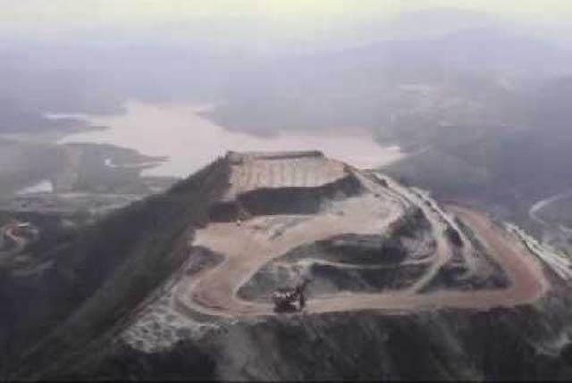 Tema mantido em sigilo pela Vale, mas é certo que todas as barragens de Itabira serão secadas. A primeira da lista, Barragem Conceição já esté em obras (Foto: Coord. Com. Social - PMI)