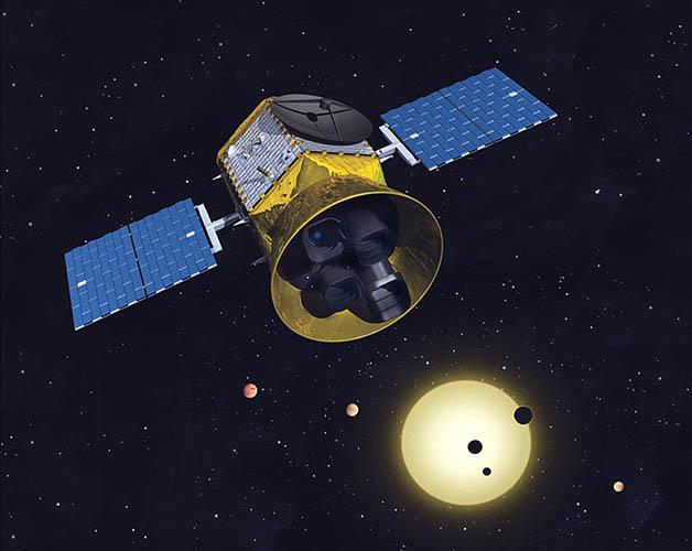 O satélite TESS em representação da Nasa © Wikimedia Commons