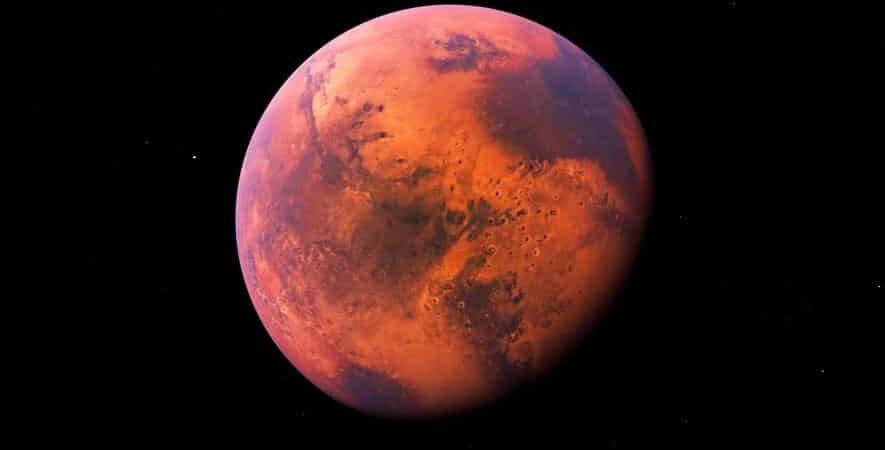 Planeta Vermelho também apresenta nuvens de água no seu interior (Foto Google)