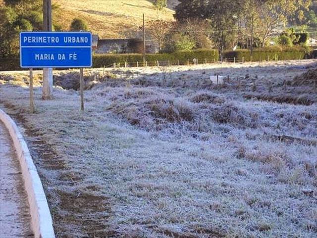 Frio no Sul de Minas Gerais: Maria da Fé é uma das mais famosas cidades frias do Estado, em que a neve está sempre presente (Foto: Divulgação)