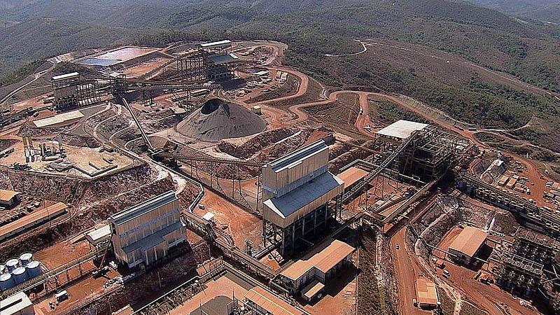 Instalações minerárias da Anglo American em Conceição do Mato Dentro: projeto de Vetão tem como finalidade unir as duas cidades  (Foto: Divulgação)