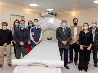 Autoridades e representantes de setores ligados ao hospital destacaram a importância da inovação que muito acrescenta à saúde regional (Foto: Coord. Com. Social- PMI)